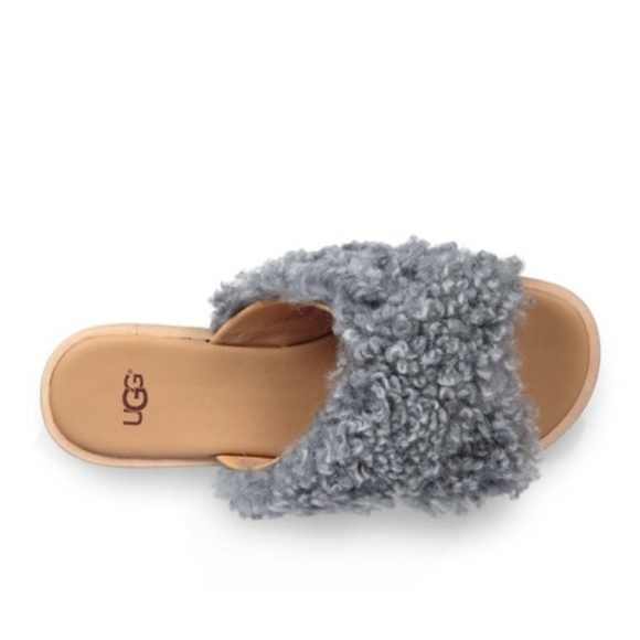 8bf5fb42d9e UGG Joni Genuine Shearling Leather Slide Sandals NWT